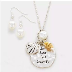 Jewelry - Nautical Sun Sand Sea Serenity Charm Necklace